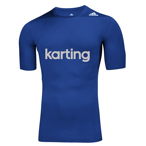 adidas Techfit Karting Underwear T-Shirts - Blue