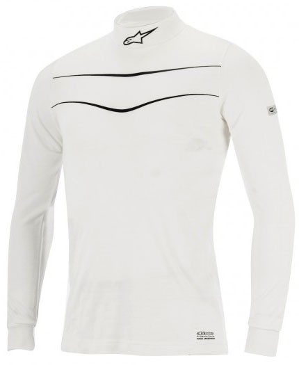 Alpinestars Racing Nomex Top Shirt White Small Only